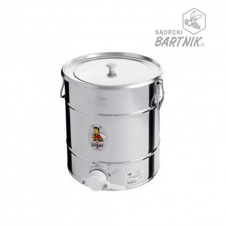 """Honey tank 35 kg, plastic gate 40 mm """"Logar"""""""