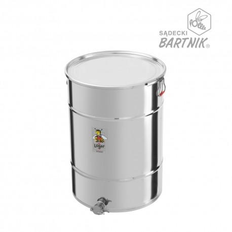 """Honey tank 200 kg,airtight lid,stainless steel gate """"Logar"""""""