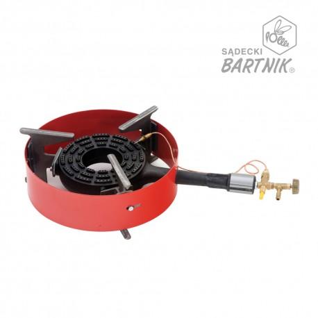 Grzejnik gazowy, żeliwny z zabezpieczeniem i obręczą, 8 kW