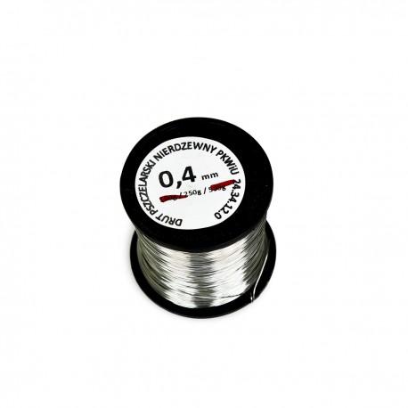 Drut nierdzewny 0.4 mm 250 g