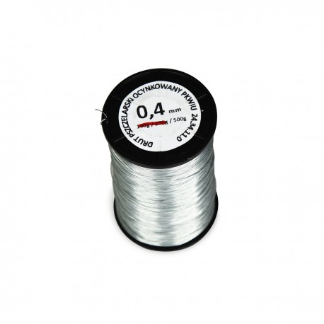 Drut ocynkowany 0.4 mm 500 g