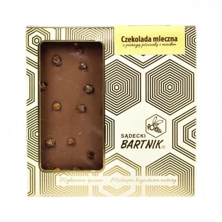 Belgisjka czekolada mleczna z pierzgą i miodem - 85 g