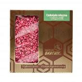 Belgijska czekolada mleczna z malinami, miodem i pierzgą - 85 g