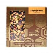 Belgijska czekolada ciemna z śliwkami, pyłkiem kwiatowym i cynamonem - 85 g