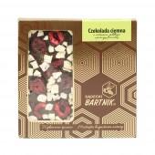 Belgijska czekolada ciena z wiśniami, jabłkiem i pierzgą pszczelą - 85 g