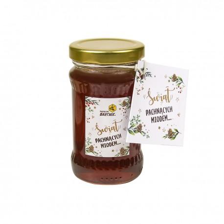 Świąteczny miód nektarowo - spadziowy 220 g