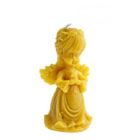 Beeswax candle - Hanging angel (01)