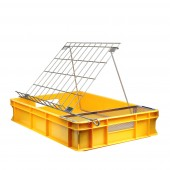Plastic uncapping tray