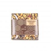Belgian dark chocolate with plums, bee pollen and cinnamon 35 g