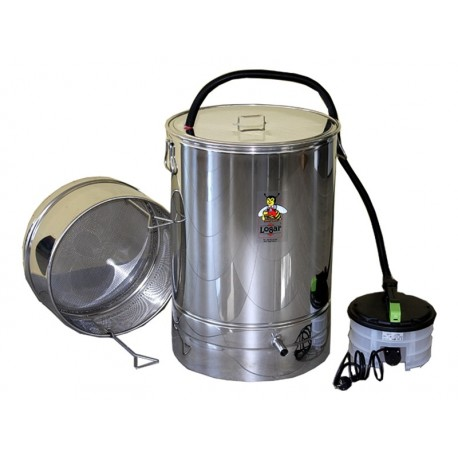 """ax melter 100 l with steam evaporator, stainless steel """"Logar"""""""