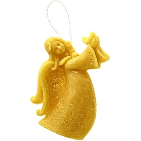 Beeswax candle - Hanging angel (10)