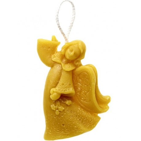 Beeswax candle - Hanging angel (07)