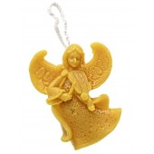 Beeswax candle - Hanging angel (06)