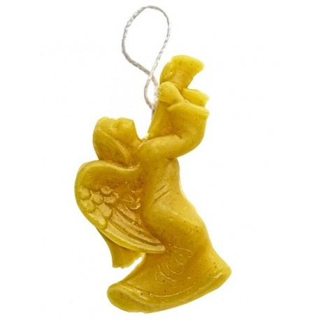 Beeswax candle - Hanging angel (05)