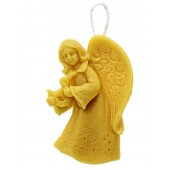 Beeswax candle - Hanging angel 04)