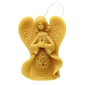 Beeswax candle - Hanging angel (03)