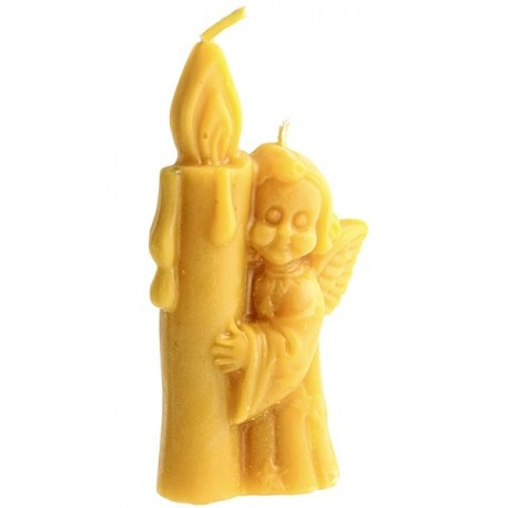 Beeswax candle -  Angel with candle