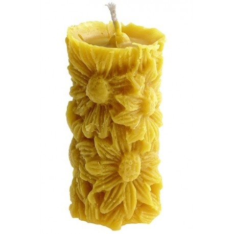 Beeswax candle - Flowers