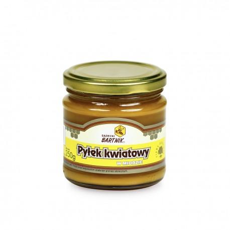 Miód z pyłkiem - 0.25, Naturalny pyłek kwiatowy