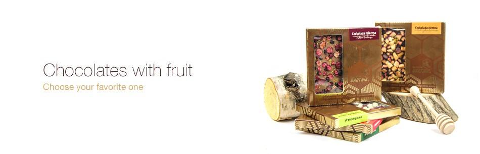 Chocolates with fruit